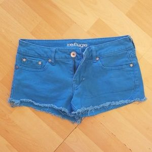 Refuge Jean Shorts Turquoise Size 6